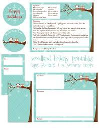 christmas recipe cards printable christmas lights decoration