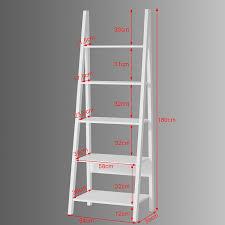 Ladder Style Bookcase by Sobuy Frg61 W Modern 5 Tiers Ladder Shelf Bookcase Wood Storage