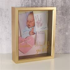 in memory of gifts personalised personalised baby memory box frame personalised baby photo frame