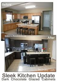 painting cabinets white before and after painted brown kitchen cabinets before and after before and after