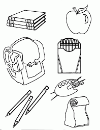 coloring page school school supplies coloring pages 330481