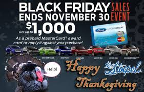 happy thanksgiving and ford black friday sales event ken