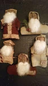 primitive ornaments primitive santa i made using a