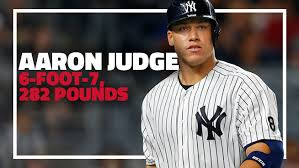 Aaron Judge Yankees Slugger Becomes Tallest Center Fielder - 6 foot 7 282 pound yankees rookie aaron judge is absolutely