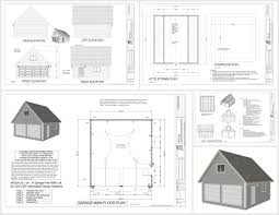 garage plans sds plans g526 22 x 24 8 garage plan with loft dwg and pdf