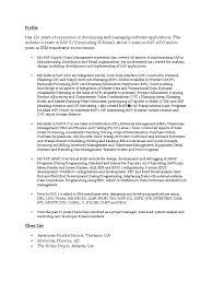 sap scm resume resume for your job application