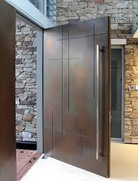 Metal Glass Door by Best 25 Entry Doors Ideas On Pinterest Stained Front Door