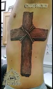 realistic wood cross rib tattoo by chad nicely eyeofjadetattoos