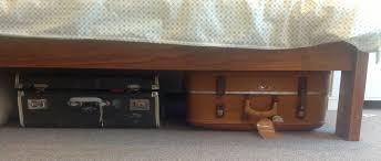 closet under bed vintage suitcase under bed storage house ideas pinterest