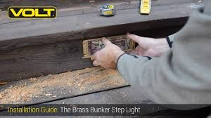 Step Lights Led Outdoor Volt How To Install The Brass Bunker Step Light