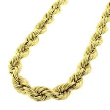 braided chain necklace images Shop 10k yellow gold 8mm hollow rope braided link twisted chain jpg
