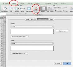 excel how to add headers and footers to your worksheets