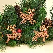 reindeer ornaments mini reindeer ornaments perler
