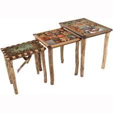 Designer Tables Artistic Nesting Tables Artisan Crafted Tables Designer Tables