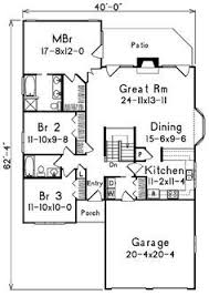 narrow lot floor plans for narrow lots hwbdo10424 bungalow house plan from
