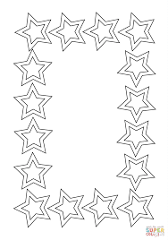 stars frame coloring page free printable coloring pages