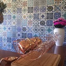 moroccan wallpaper tiles anthrofave anthropologie copper moscow