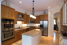 Medium Oak Kitchen Cabinets Pictures Of Kitchens Traditional Medium Wood Cabinets Golden