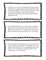 multi step word problems 5th grade printable here s a set of word problems and equation sentences students