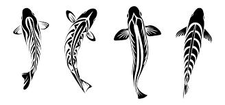 tribal koi tattoos by coyotehills on deviantart