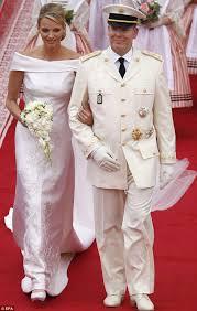 armani wedding dresses charlene wittstock white armani wedding dress albert de monaco