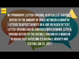 what do you call the space between letters youtube