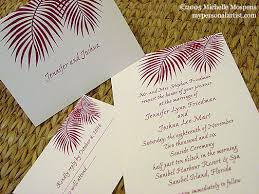 palm tree wedding invitations palm tree invitations