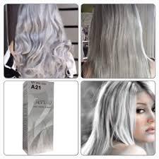 berina a21 light gray color grey silver color permanent color hair