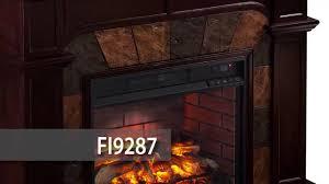 fi9287 cartwright faux stone corner infrared fireplace espresso