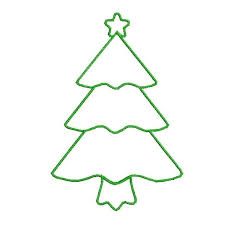 christmas tree clipart outline clipartxtras