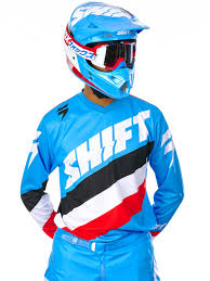 blue motocross gear shift motocross kit jerseys pants freestylextreme united