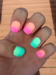 best 25 orange ombre nails ideas on coral ombre nails