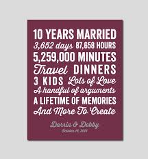 10 wedding anniversary 10 year anniversary gift 10 year wedding anniversary you