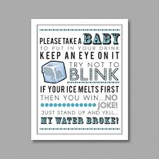 my water baby shower blue my water printable for baby shower 5x7
