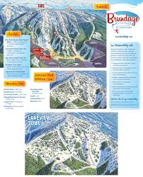 World Mountain Ranges Map by Brundage Mountain Resort Trail Map