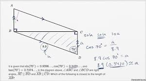 right triangle trigonometry u2014 basic example video khan academy