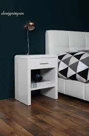 nachttischle design design nachttisch boxspringbett nachtkommode sn 1 weiß hochglanz