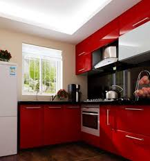 Red And Black Kitchen Cabinets Glamour Red Kitchen Cabinets The New Way Home Decor