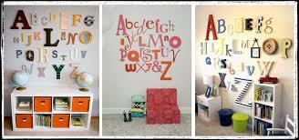 Decorating Wooden Letters Wall Art Design Ideas Gigi Spans Alphabet Wall Art Modern Huge