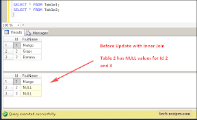 how to join tables in sql delete and update rows using inner join in sql server