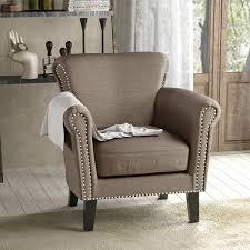 Scroll Arm Chair Design Ideas Brice Vintage Scroll Arm Studded Fabric Club Chair By Christopher