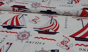 meterware stoff bedruckter baumwoll canvas meterware stoff maritim online kaufen