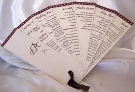 fan style wedding programs wedding program styles on designs by ginny fan style wedding