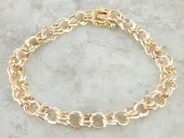 ring charm bracelet images Double ring yellow gold charm bracelet market square jewelers jpg