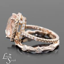 gold and morganite ring cushion cut morganite ring pink morganite morganite engagement
