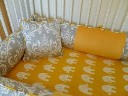 mini crib bedding for girls custom crib bedding set grey and yellow colors baby rooms and