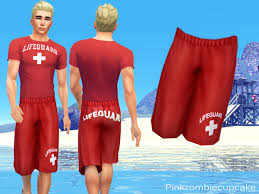 the sims 4 lifeguard shorts by pinkzombiecupcakes