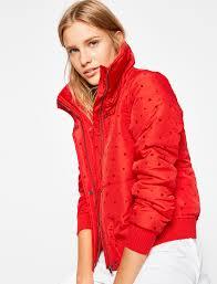 red women puffer jacket 8kal jw975 koton