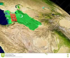 Flag Of Turkmenistan Turkmenistan With Flag On Earth Stock Illustration Image 80303137