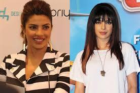 trimming hair angle cut priyanka priyanka chopra hair bangs fringe how to cut fringe